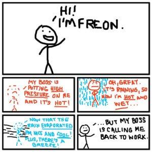 Poor Freon. He just wants to enjoy the breeze!